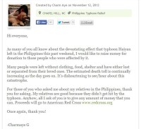 Girlfriend of 5 & A Dime Helps Raise Money for Philippines